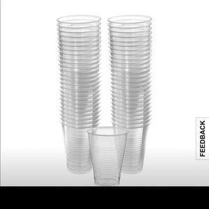 Other - Clear plastic 12oz cups